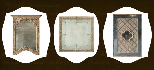 Vintage french style mirrors