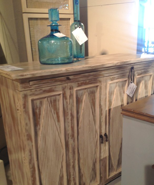 whitewashed farmhouse sideboard