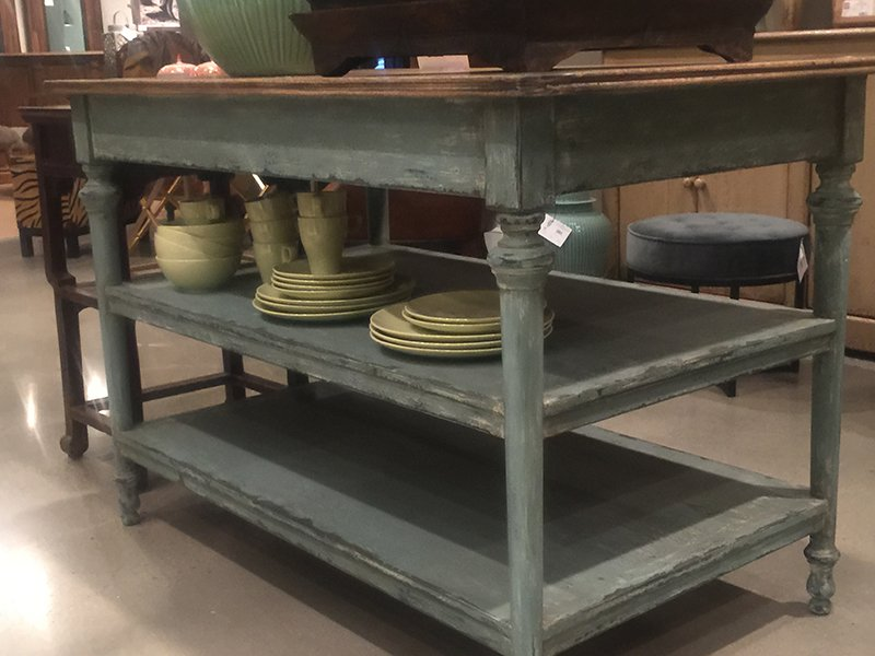 Distressed farmhouse buffet table