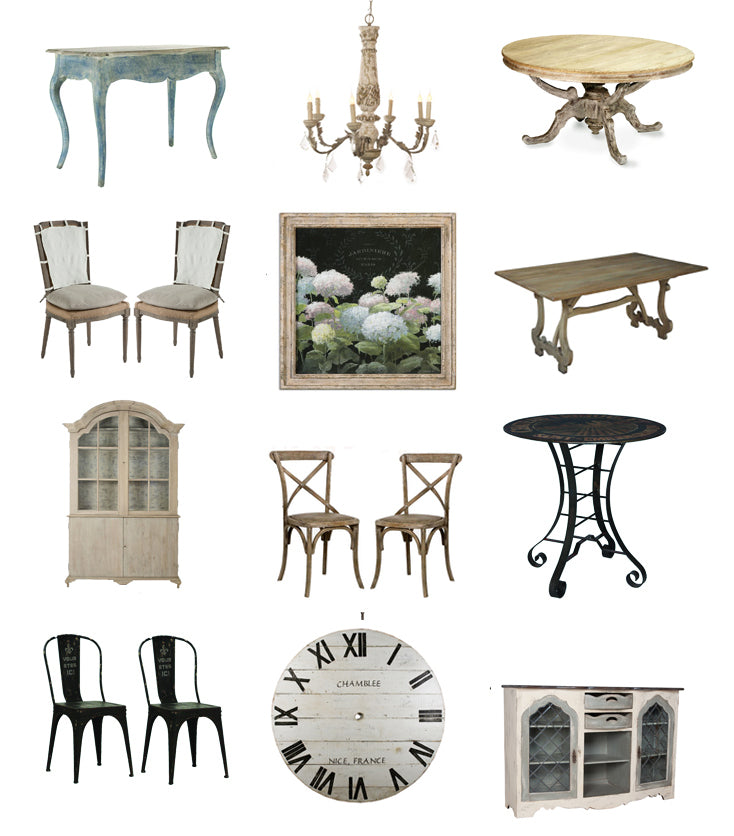 french cafe style furniture