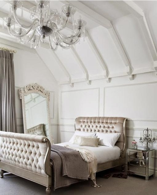 french_tufted_bed_mirrored_chest