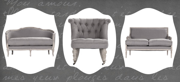 gray sofas and settees