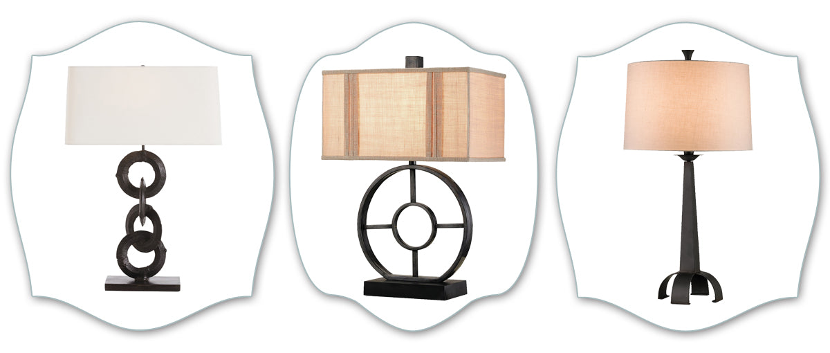 Industrial chic lamps
