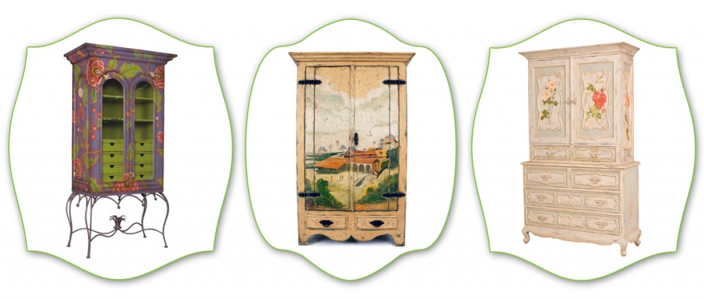 painted display cabinets