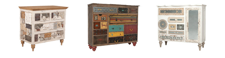 Artistic collage chest