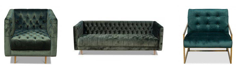 tufted green seating