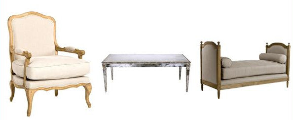 French mirrored furniture