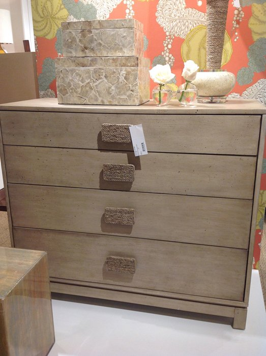 coastal style chest with rope handles