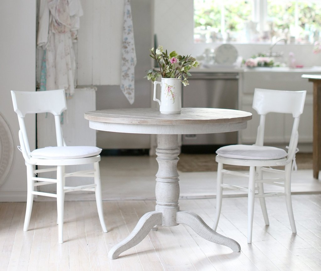 shabby chic bistro table