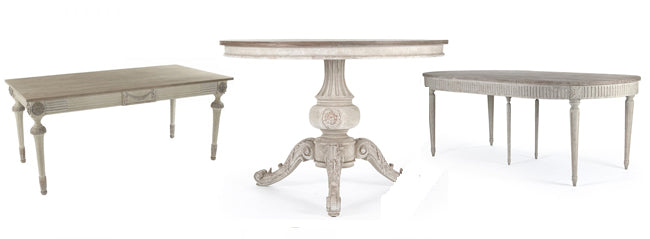 shabby chic dining room tables