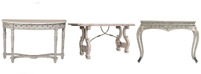 shabby chic console tables