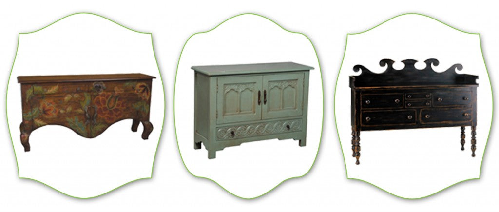 painted distressed sideboards