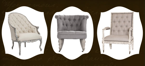 French tufted chairs