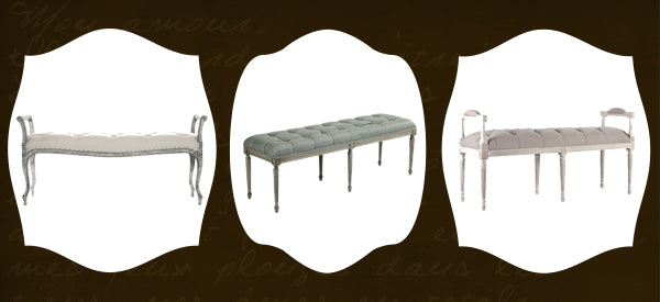 tufted benches