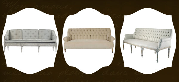 tufted french style sofas