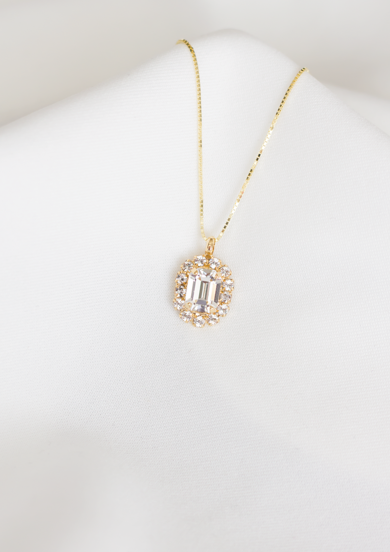 The Mini Sparkling Cambridge Necklace | Crystal