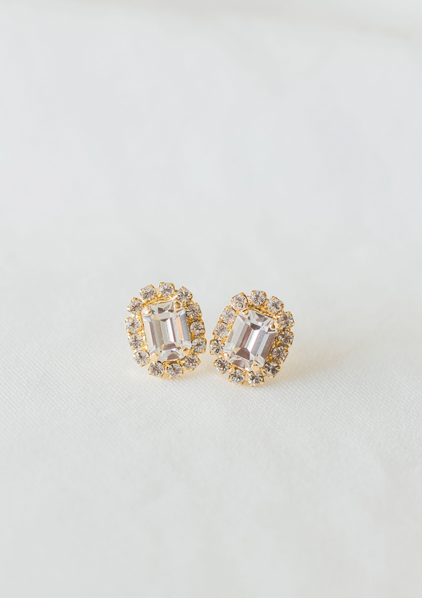 The Sparkling Cambridge Earrings | Crystal