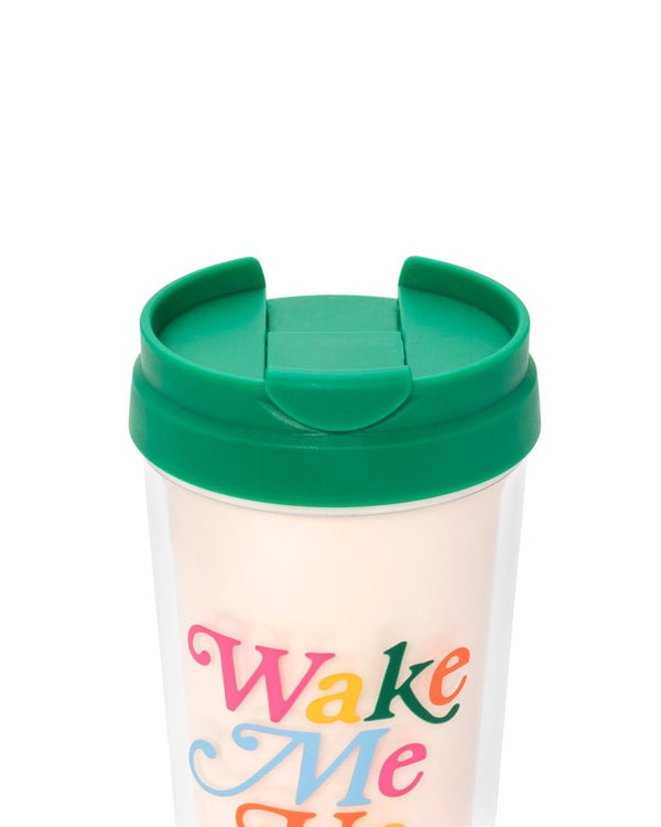 Deluxe Thermal Mug - Wake me up for Coffee