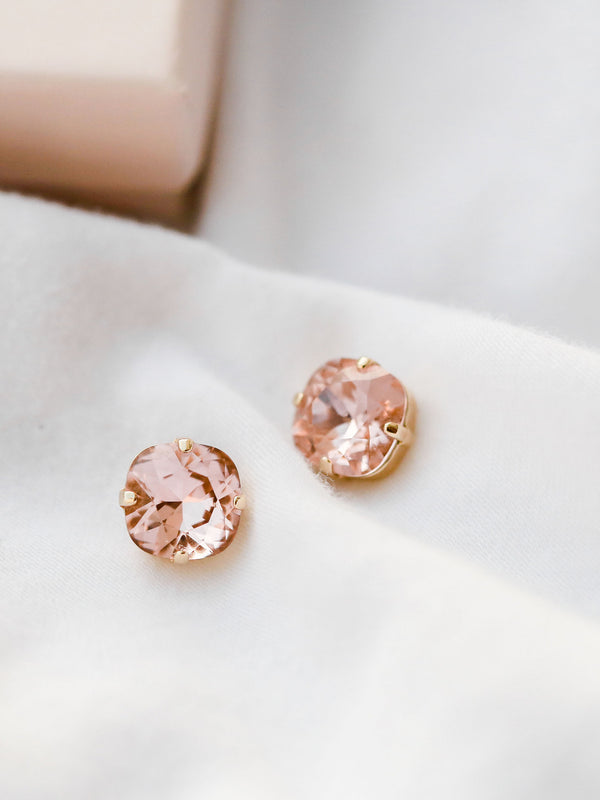Majesty Studs, jewelry designed and made by Sarah Gauci in Malta. 16K gold, rose gold or silver plated.