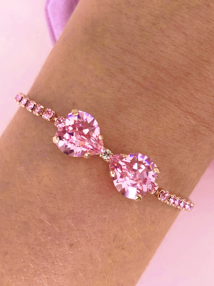 The Crystallized Marie Bow Bracelet