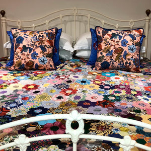 50x50 Liberty London floral cushions with silk backing