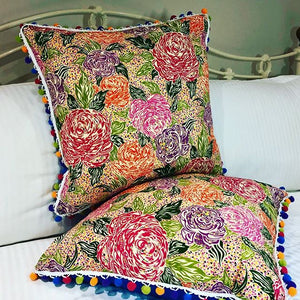 50x50 Vintage Liberty London Floral and Silk Cushions