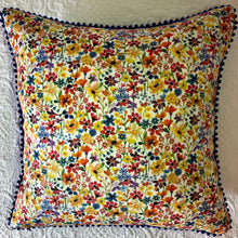 Load image into Gallery viewer, 50x50 Liberty London Floral cushions with silk backing