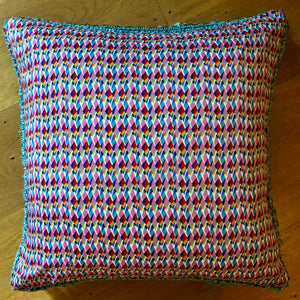 50x50 Liberty London Geometric cushions with silk backing