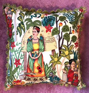 50x50 Frida cushion with Liberty London backing
