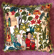 Load image into Gallery viewer, 50x50 Frida cushion with Liberty London backing