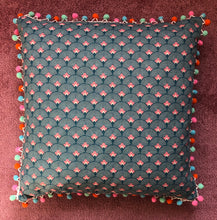 Load image into Gallery viewer, 50x50 Fan & Pompom Cushion