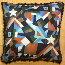Load image into Gallery viewer, Liberty London Geometric and Silk Cushion