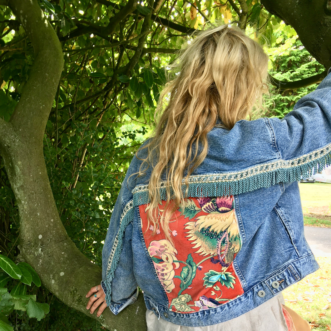 House of Hackney Denim Jacket with Tassels