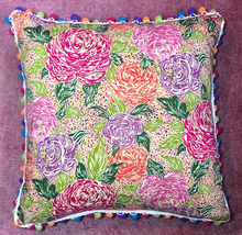 Load image into Gallery viewer, 50x50 Vintage Liberty London Floral and Silk Cushions