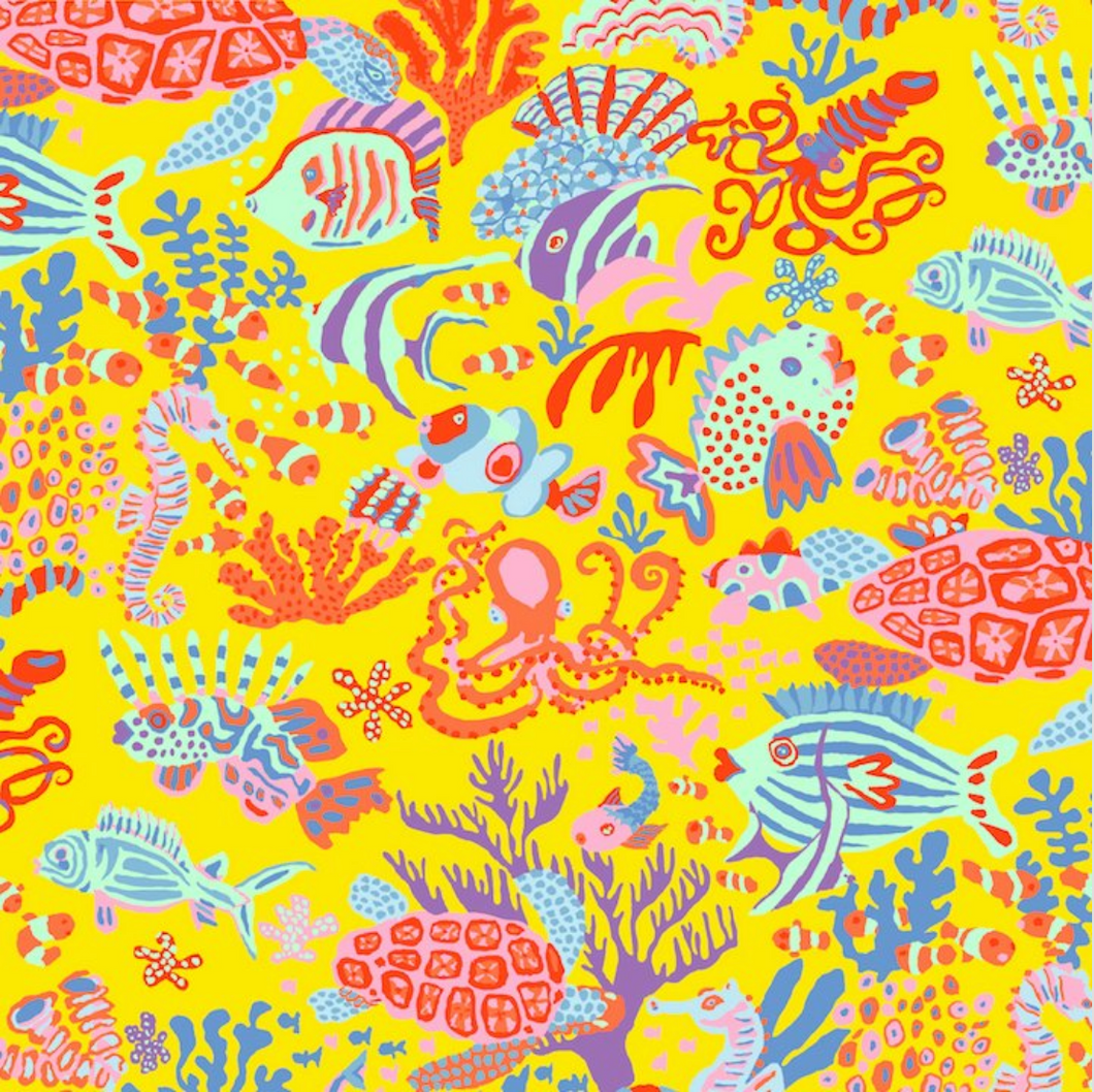 Kaffe Fassett Collective 'Yellow Scuba'