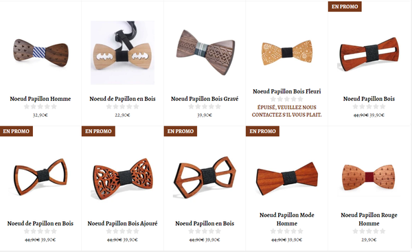 Collection Noeud Papillon en Bois