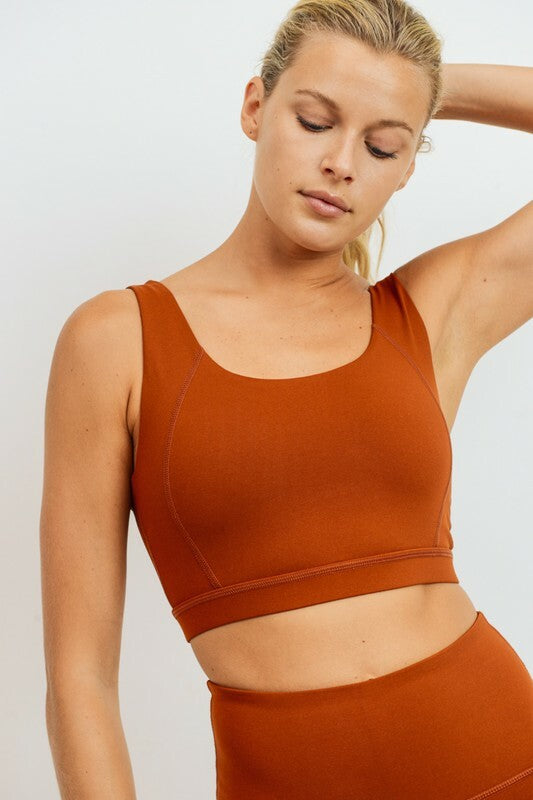 Athletic Bra - Rust