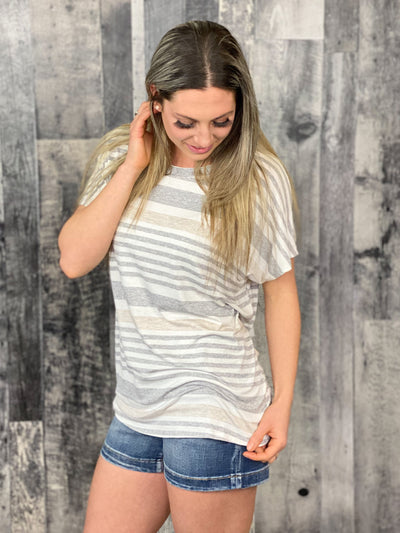 Striped Shift Top
