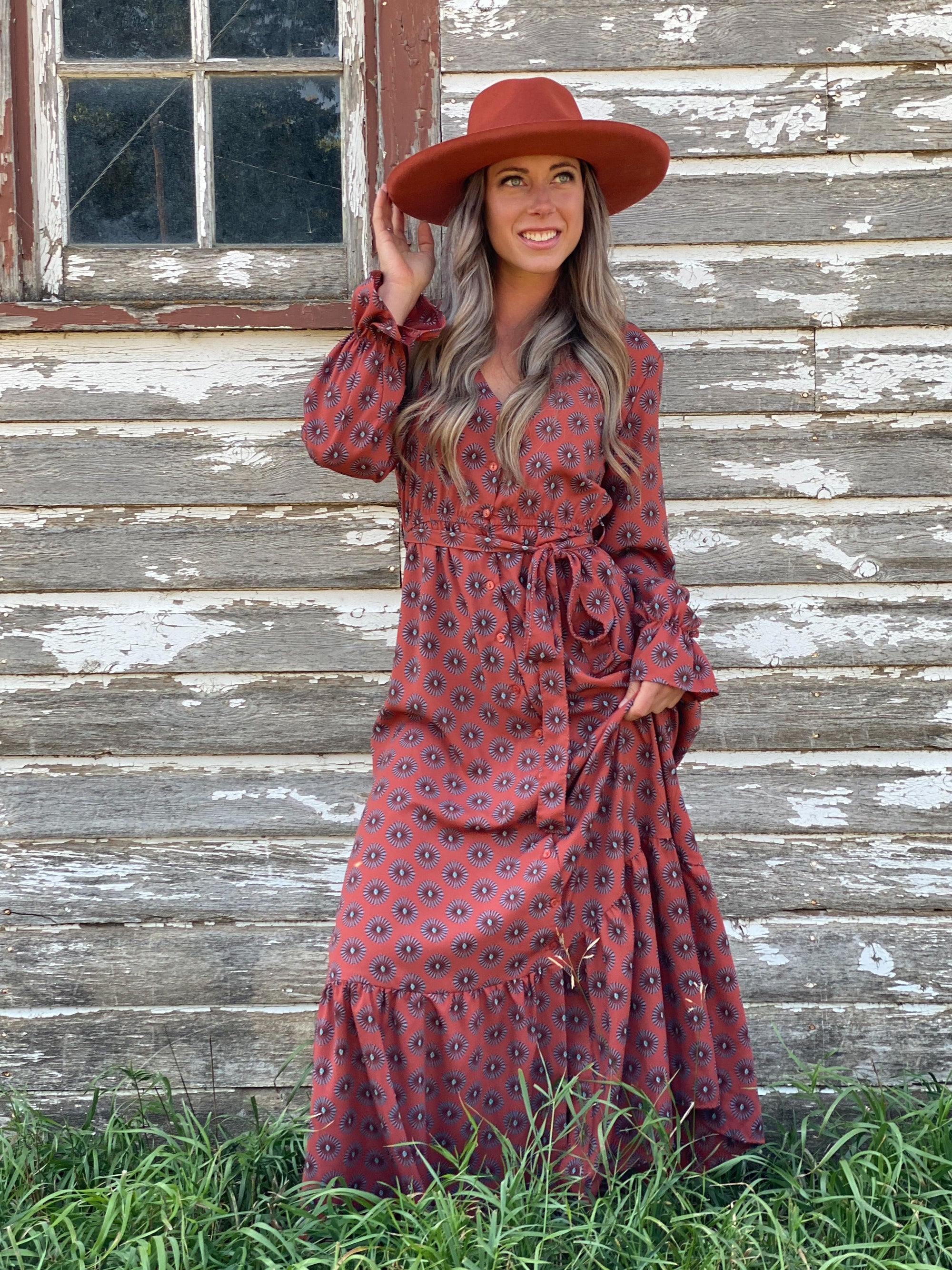 Rust BOHO LOVE Dress