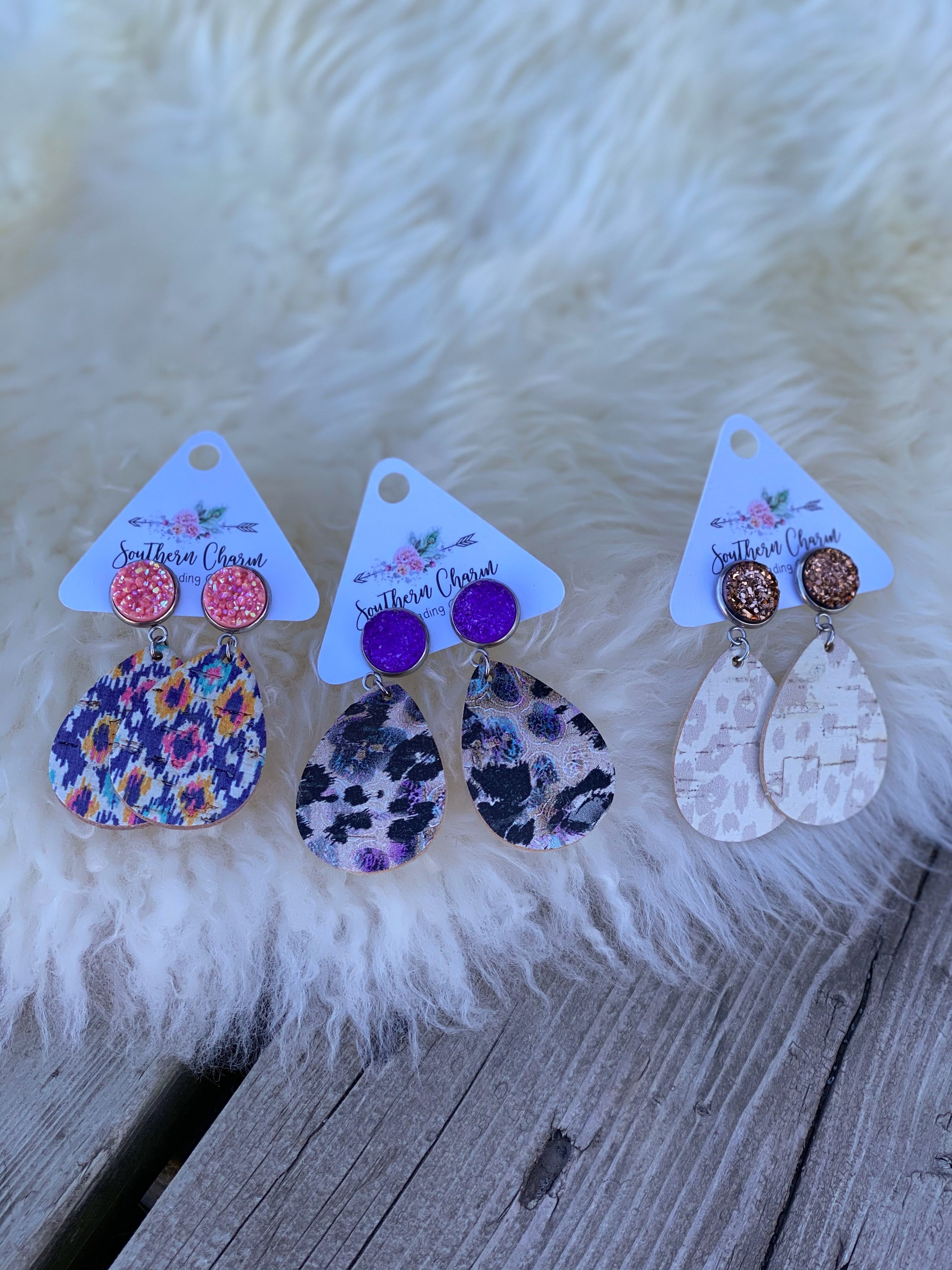 Itty Bitty Earring Dangle Druzy Collection
