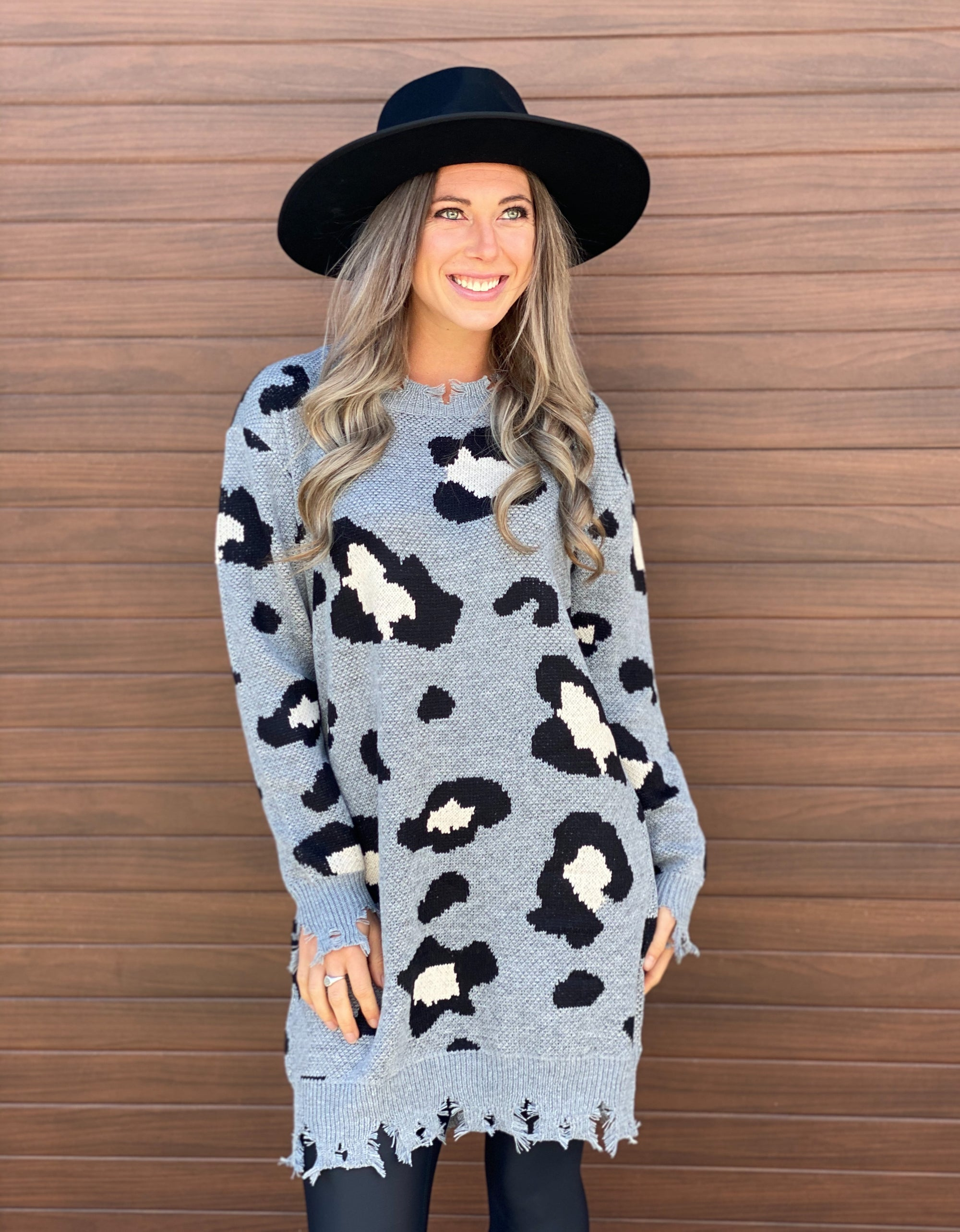 Wild Sweater Tunic Dress - Grey - Restock