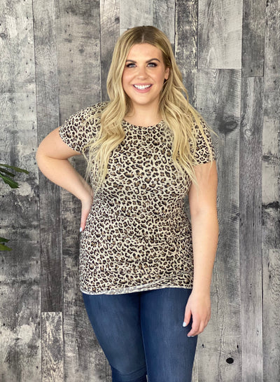 Ruched Tunic -Leopard