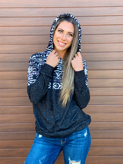 Aztec Hoodie (Small - 3X)