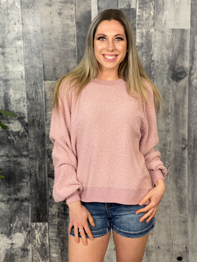 Textured Sweater - Blush