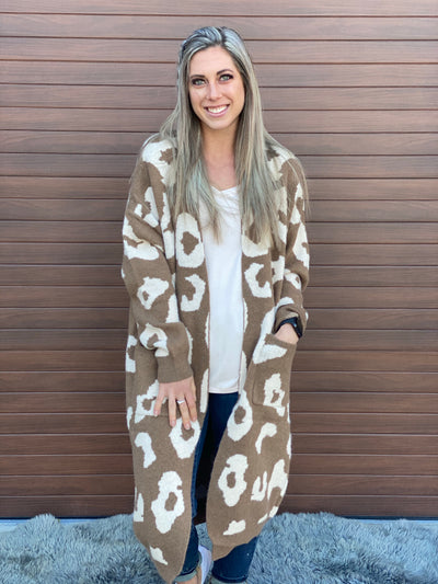 Love of Leopard Cardigan - Mocha