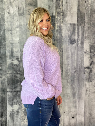 Textured Sweater - Lavender