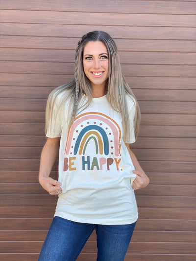 Give Back Fundraiser - Be Happy Tee (Small - 3X)