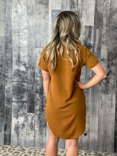 Tunic Dress - Rust
