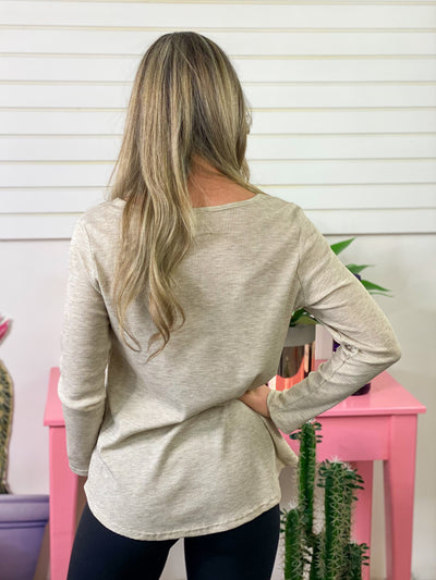 Oatmeal Criss Cross Thermal