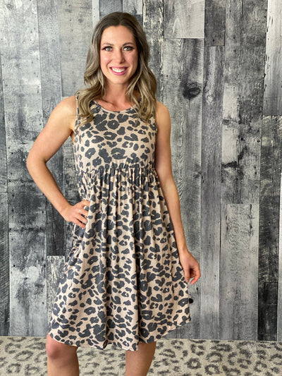 Baby Doll Leopard Tank Dress